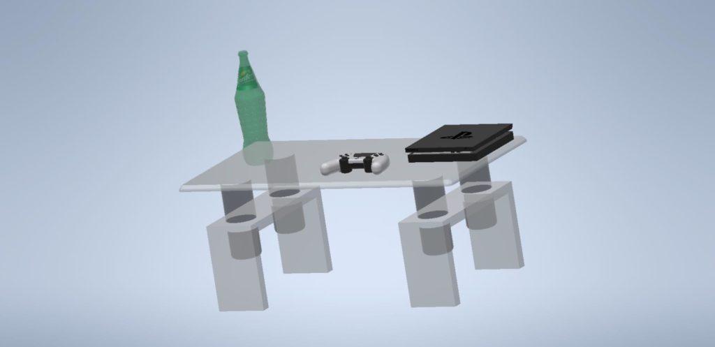 3D Inventor - stůl