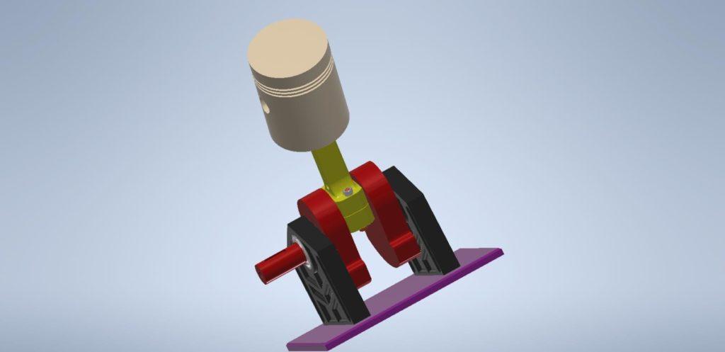 3D Inventor - klikový mechanismus