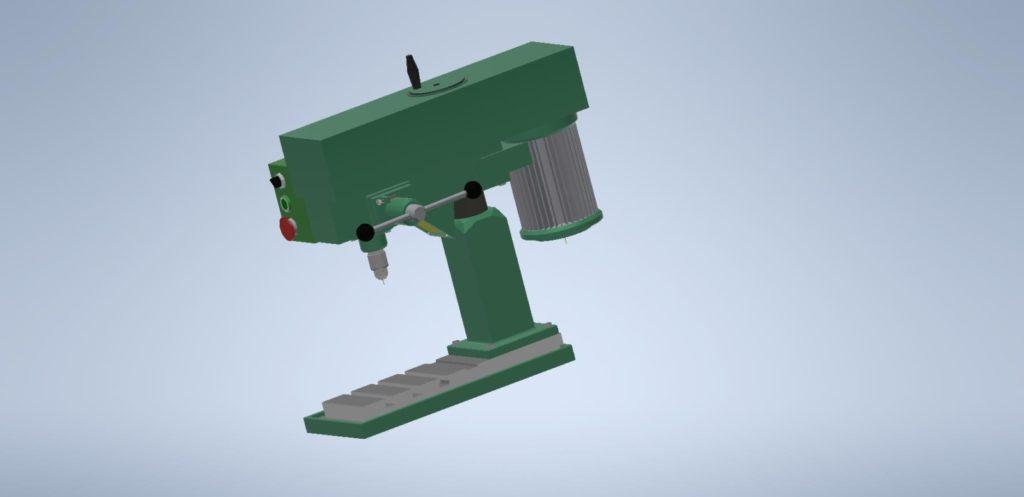 3D Inventor - vrtačka