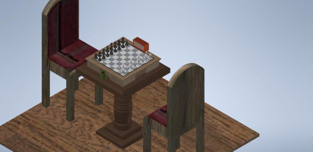 3D Inventor - šachy