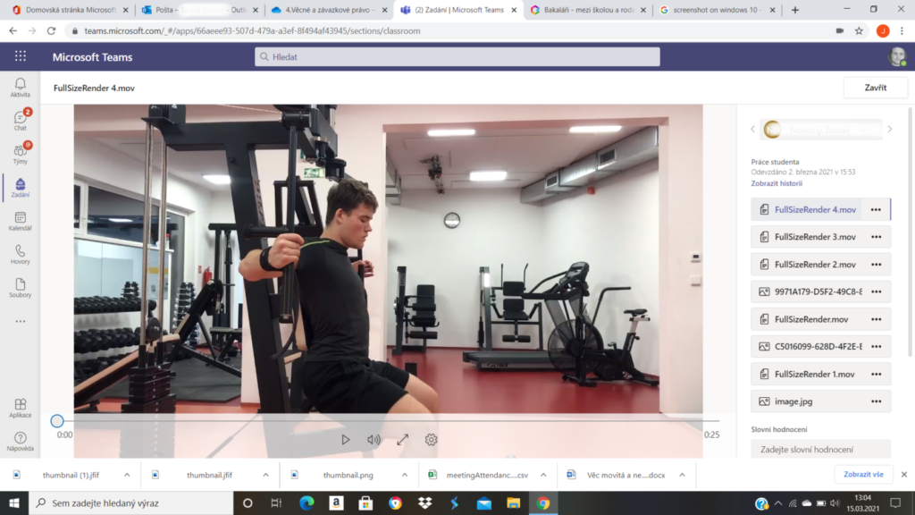 Tělocvik distančně
